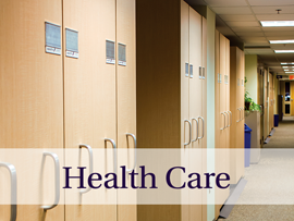 Storage solutions in hospitals, health/medical clinics, and laboratories