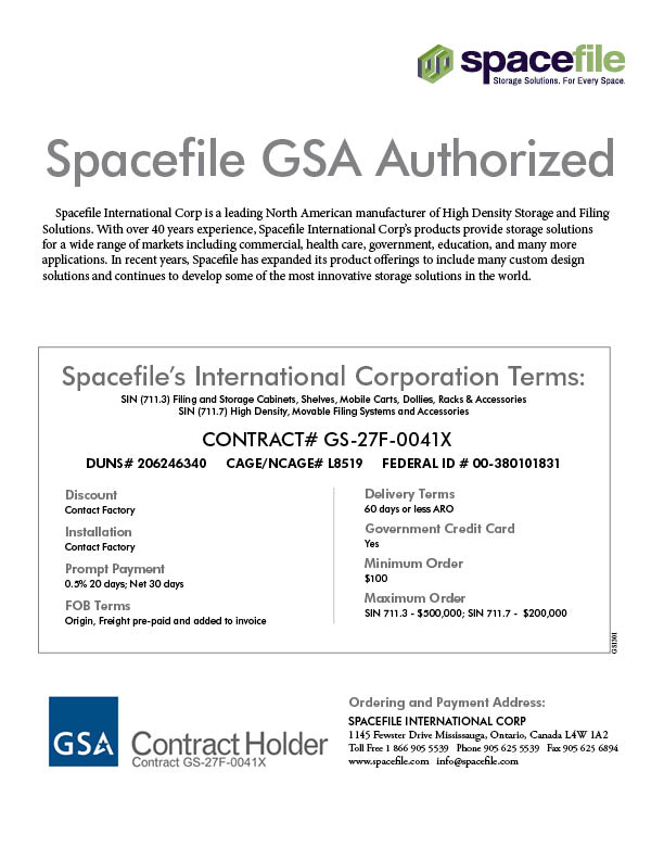 Spacefile GSA Authorized GS1301