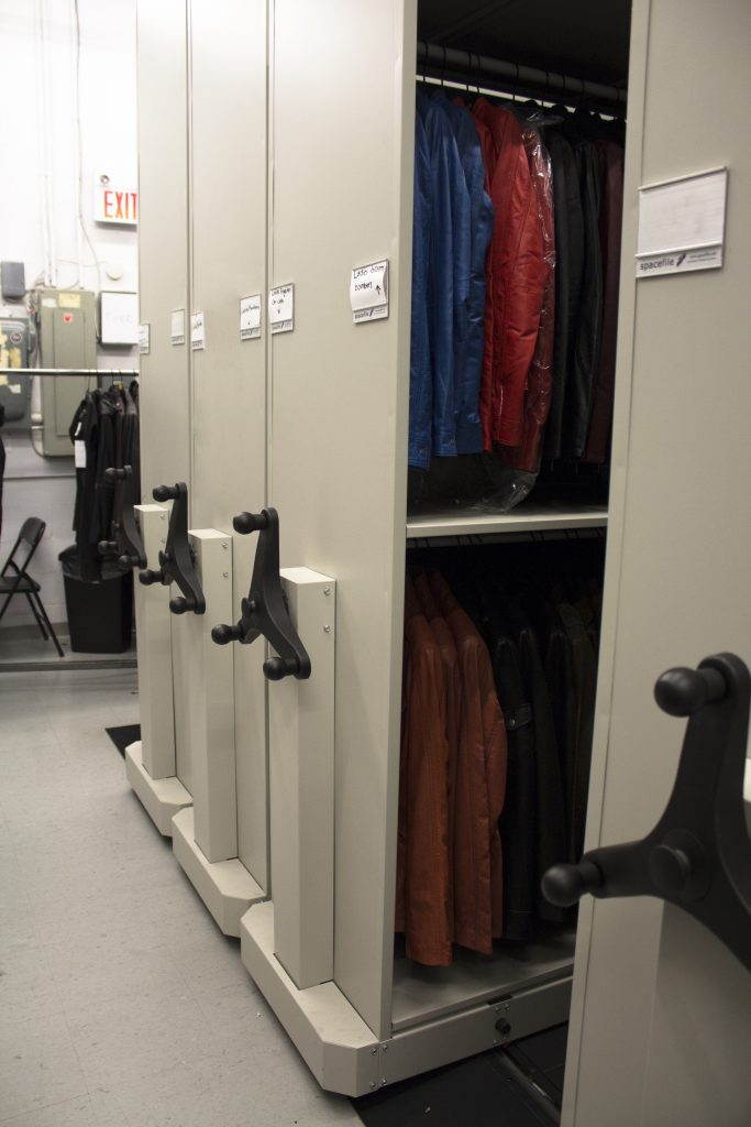 image of high density storage in a retail setting:  Mechanical assist